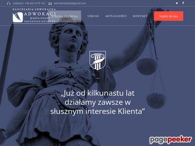 Adwokat Rzeszów Krzysztof Dolot - Obsługa Prawna