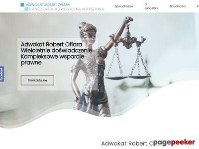 Kancelaria adwokacka - adwokat Robert Ofiara