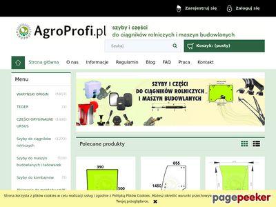 Agroprofi - Szyba do ciągnika
