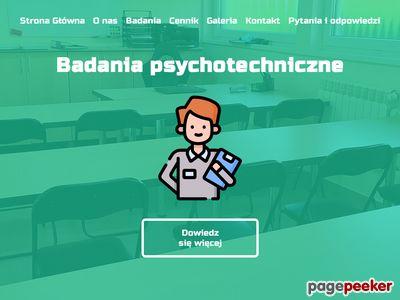 Badania psychotechniczne przeznaczone są dla operatorów